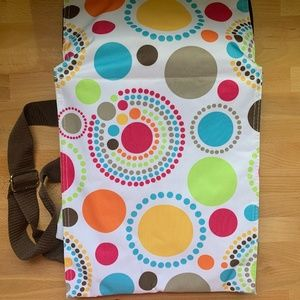 Thirty One Picnic Thermal Tote Circle Spirals NWOT